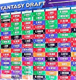 2020 Fantasy Football Draft Board with Over 400 Player Labels Draft Kit alphabetized by Position