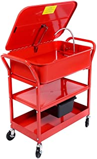 Goplus 20 Gallon Mobile Parts Washer Cart Electric...