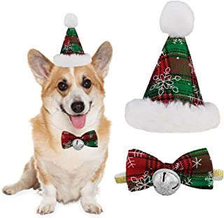 Do4Pets Dog Birthday Bandana Hat Bow Tie for Pet Puppy Cat Birthday Party Supplies for Birthday Christmas New Year, Gift and Party Decoration Set