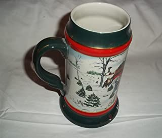 1991 budweiser holiday stein