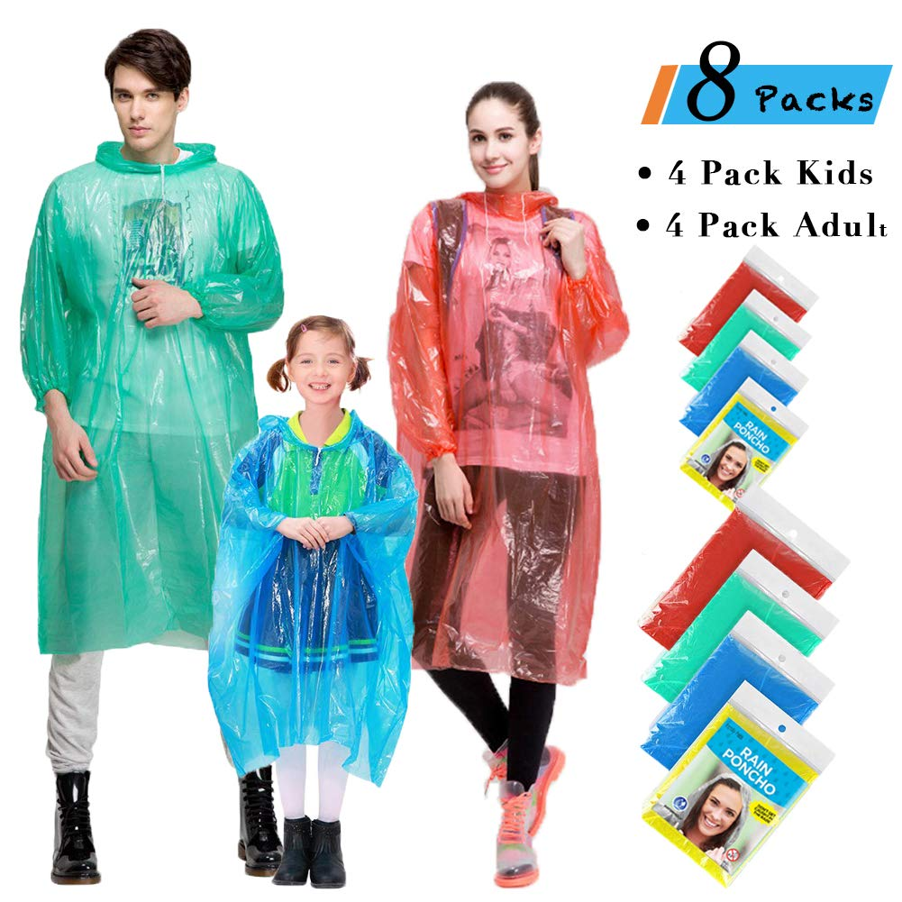 Ponchos Disposable Emergency Assorted Perfect