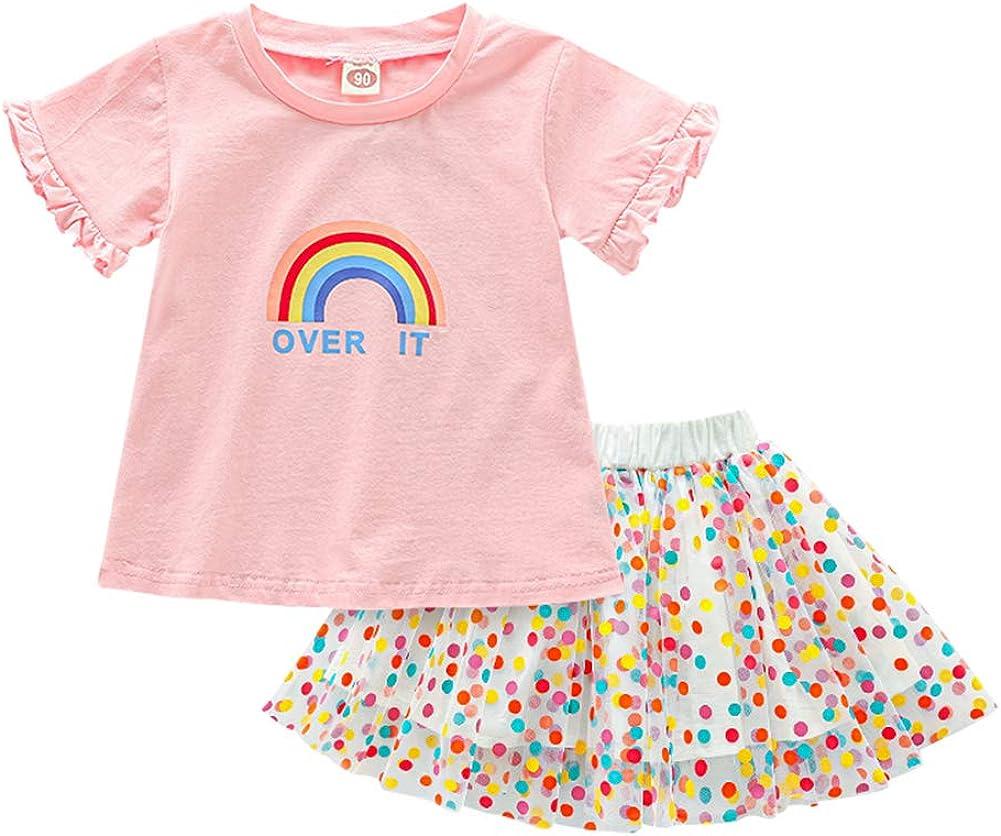 Mud Kingdom Little Girls Skirt Colorful Ranking TOP15 Rainbow Cute Set Popular