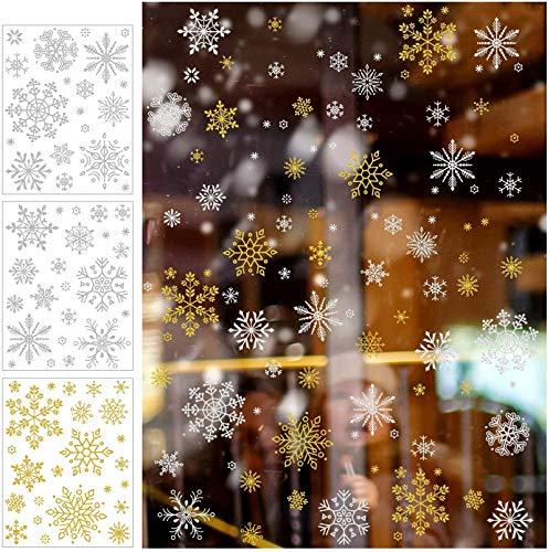 12 Hojas Se Aferra Ventana del Copo de Nieve de Navidad Pega