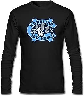 Qincent Men's Screw Neck Long Sleeve T Shirt/North Carolina Tar Heels