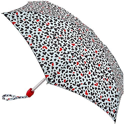 Lulu Guinness Pequeño paraguas plegable – corazones recortados