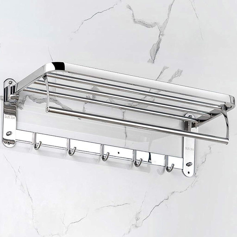 やりすぎラウンジわなバスルームシェルフ タオルラックステンレス鋼304無料パンチタオルラック浴室の棚浴室のタオルラック