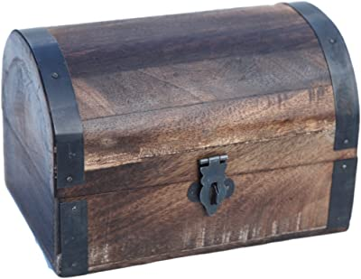 Thorness Wooden Treasure Chest Trinket Box, Keepsake Box