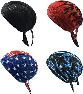 Dew Rags Skull Cap Cycling Bandana Head Wrap Breathable Helmet Liner Durag Sweat Wicking Beanie Hat for Men Women