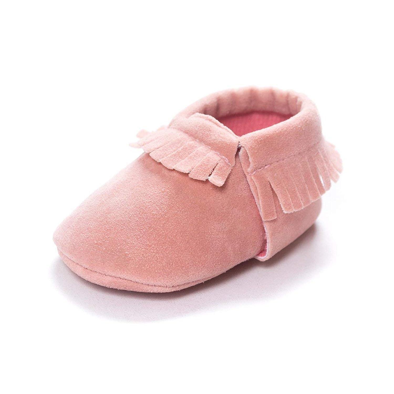 ベビーシューズ 女の子 男の子 上履き ベビー 履きやすい 子供靴 こども靴 柔らかい スエード 軽量 耐磨 靴 赤ちゃん かわいい ファーストシューズ 6~12ヶ月 出産祝い プレゼント おしゃれ (12cm, ピンク)