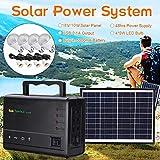LAMP-XUE Panneau de Stockage d'énergie Solaire Générateur 18V Générateur Solaire Portable avec Panneau...