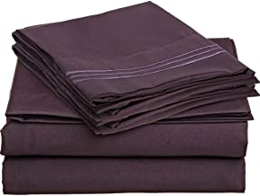 Brils-ri Premium Bed Sheets Luxury Resort Hotel 1800 Collection Sheet Sets Percale Microfiber Fabric Linen Deep Pocket Soft Cooling Non-Wrinkle Dryer Safe Fade Resistance King