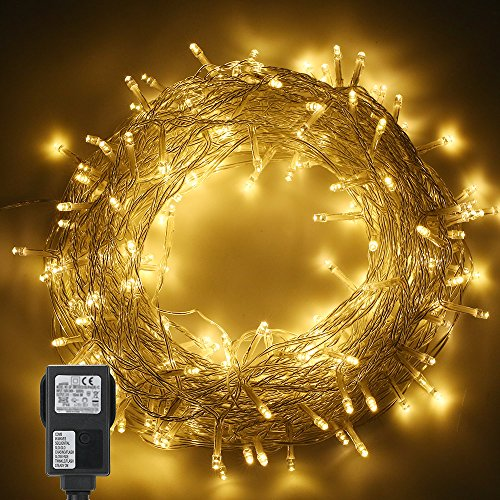 Tomshine 200LEDs String Light 6w 82ft IP44 Water Resistance Eight Lighting Effects for Party Living Room Bedroom Patio Garden