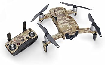 Coyote Camo 51 Piece Decal Kit for DJI Mavic Air Drone - Includes Drone Skin, Controller Skin and 3 Battery Skin