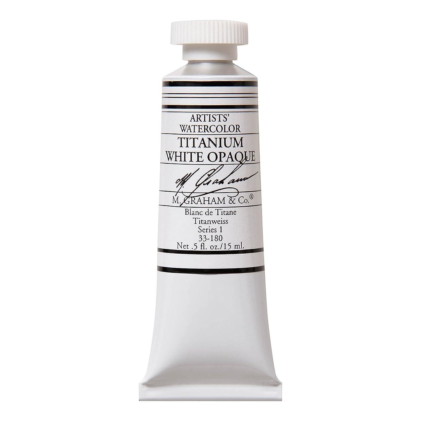 M. Graham 1/2-Ounce Tube Watercolor Paint, Titanium White Opaque (33-180)