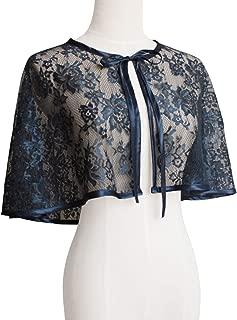Women's Floral Lace Shawls and Wraps Drawstring Bolero Shrug Scarf Cape
