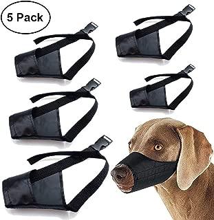 Dog Muzzles Suit, 5 PCS Anti-Biting Barking Muzzles Adjustable Dog Mouth Cover for Small Medium Large Extra Large Dogs