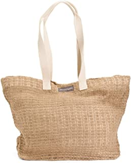 Oversized Woven mesh with lining Bag Tote MARE LINNO