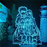 Naruto Anime 3D Friendship Illusion LED Nightlights Visual Lighting Lampara for Christmas Birthday Valentine's Gift for Boys and Girls MAGY