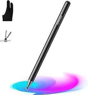 قلم رصاص جوي روم للآيباد، قلم ذو سعة مناسب لرسم طلاب الأطفال، والكتابة، وحساسية عالية، مع قفاز الفنان (رفض النخيل) لأجهزة ...
