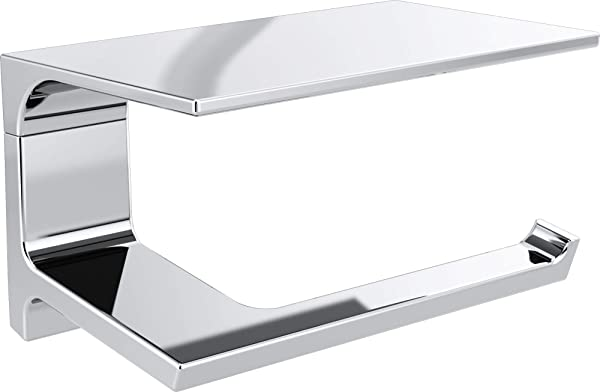 Delta Faucet 79956 Pivotal 7 Wall Mount Tissue Holder With Shelf