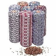 "#DoYourYoga Round Yoga Bolster »Krishna« with Organic buckwheat Husk / 26.8"" x 8.66"" – Ideal as Yoga Cushion/zafu/mat/Machine Washable & Skin-Friendly. 100% Cotton/Multiple Colours and Styles."