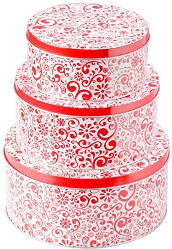 StarPack Premium Christmas Cookie Tins Set of 3