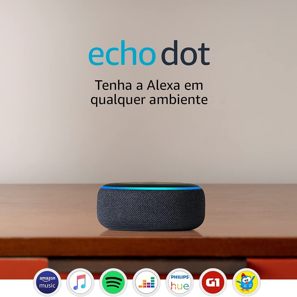 Confira ➤ Echo Dot (3ª Geração): Smart Speaker com Alexa – Cor Preta ❤️ Preço em Promoção ou Cupom Promocional de Desconto da Oferta Pode Expirar No Site Oficial ⭐ Comprar Barato é Aqui!