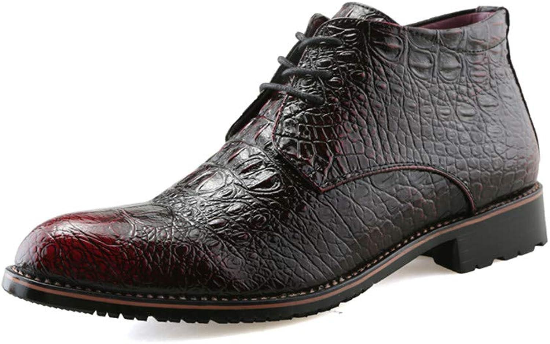 Fang-schuhe, 2018 Herren Business Oxford Schuhe, Casual Casual Casual High Tip Martin Stiefel mit Mode und Baumwolle warme Stil Formale Schuhe (Farbe   Rot, Größe   43 EU)  16c9f7