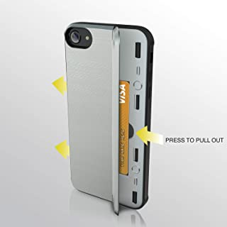 iPhone 7 Case | iPhone 8 Case | Heavy Duty Protective Wallet Case | Card Holder Slot | Wireless Charging | Kickstand | Military Grade | 10ft. Drop Tested Protective Case | for iPhone 7/8 - Silver