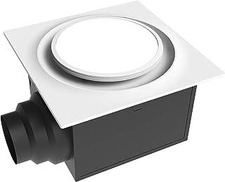 Aero Pure ABF80 L6 W ABF80L6 Ceiling Mount 80 CFM w/LED Light/Nightlight, Energy Star Certified, White Quiet Bathroom Ventilation Fan,