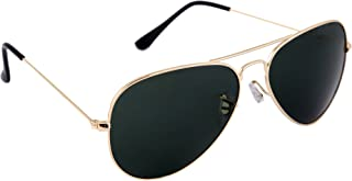 a8e0aad973a5 Gansta UV Protected Gold With Black Lens Aviator Sunglasses for Men Women  (3002-Gld