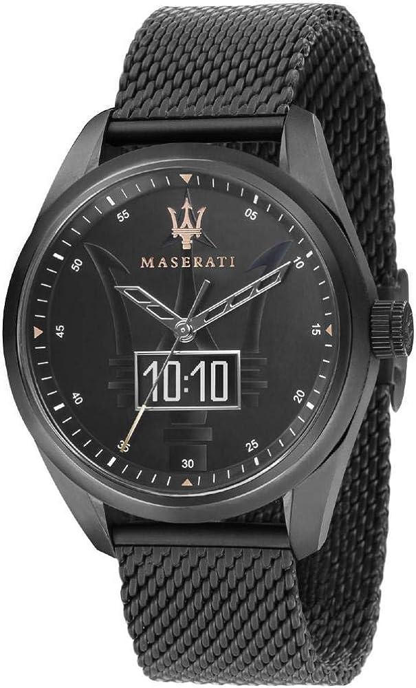Maserati orologio da uomo, collezione traguardo smart in acciaio inossidabile smartwatch R8853112001