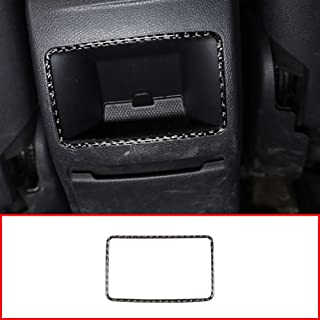 SLONGK Para Mercedes Benz GLA CLA A Class W176 W177 C117 2015-2019, Real Carbon Fiber Car Rear Air Outlet Frame Stickers Accesorios