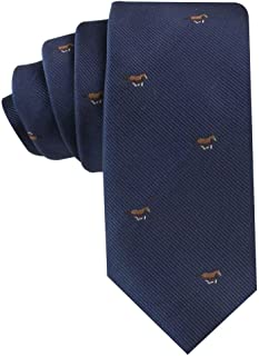Animal Ties | Woven Skinny Neckties | Gift for Men | Work Ties for Him | Birthday Gift for Guys