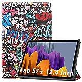 NUPO Étui de protection ultra fin en polyuréthane pour Samsung Galaxy Tab S7 Plus 2020 avec fonction support, parfait pour Galaxy Tab S7+ SM-T976 Color02.