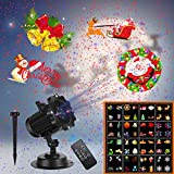 Christmas Lights,UNIFUN 16 Patterns LED Projector Lights with red and Blue Star,...