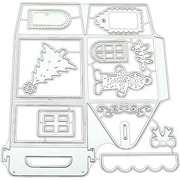 Matrices de D/écoupe Album D/écoration Papier Carte Craft Scrapbooking for Hergon Dies de D/écoupe Fermeture /éclair Bricolage Cutting Dies