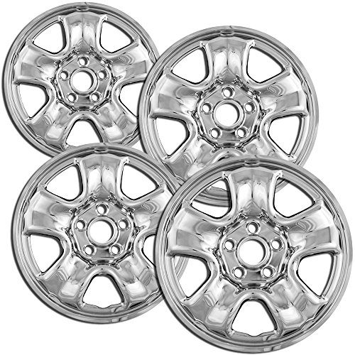 16 inch Hubcap Wheel Skins for 2012-2015 Honda CR-V-(Set of 4) Wheel Covers- Car Accessories for 16inch Chrome Wheels- Auto Tire Replacement Exterior Cap Cover