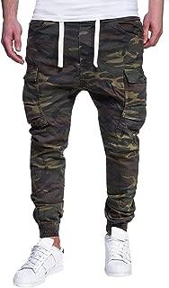 Men's Sport Camouflage Lashing Belts Loose Sweatpants Drawstring Pant