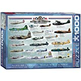 EuroGraphics Allied Air Command WWII Bomber 1000 Piece Puzzle
