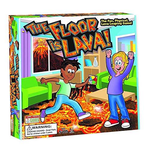 The Floor Is Lava -Innovative Volcano Children's Rotating Card Game- Juego Interactivo Para Niños Y Adultos