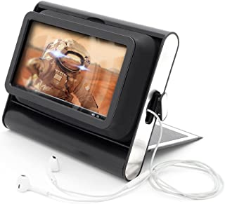 Phone Screen Magnifier – 7 Inch Cell Phone Magnifier – Cell Phone Movie Screen With Built In Flip Stand, 2X Magnification