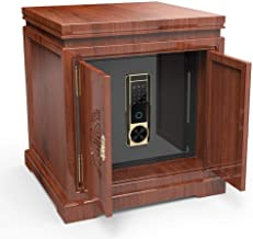 Steel Safe All Steel Anti-Theft Safe Household Small Invisible Chinese Solid Wood Bedside Cabinet Safe for Storing Valuabl...
