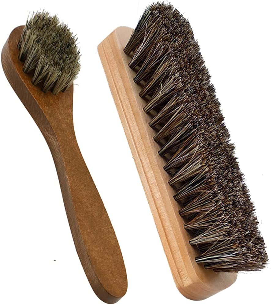 Horsehair High order Shoes Polish Brushes Shoe Applicators Dauber Shipping included Sh