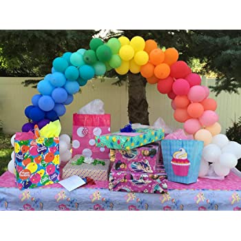 Neo LOONS 5 Inch Pastel Assorment Color Natural Latex Balloons for Party Decoration 100 Pcs//lot