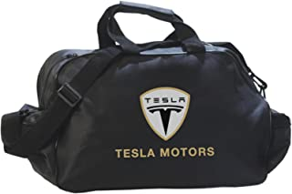 Teslaロゴダッフル旅行スポーツジムバッグバックパック