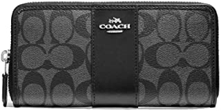 Coach Women's Patent Crossgrain Leather Accordion Zip Wallet