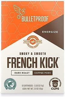Bulletproof French Kick Roast Coffee Pods, Premium Dark Roast, Organic, single-serve K-Cups, Keurig, Keurig 2.0 (10 Count)