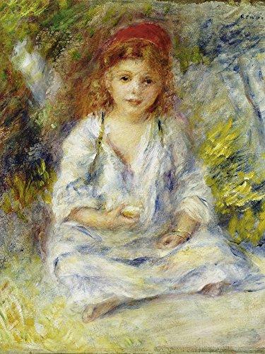 Artland Alte Meister Wandbild Pierre-Auguste Renoir Kleines algerisches Mädchen Leinwand Bilder 40 x 30 cm Kunstdruck Gemälde Impressionismus R1SI