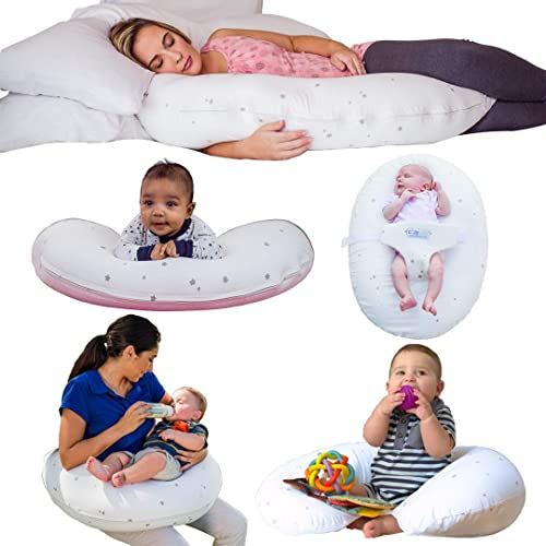 CozyBaby 5-in-1 Pregnancy, Breast Feeding & Baby Pillow. 5 Essential Uses from Pregnancy Pillow to Feeding Pillow & B...